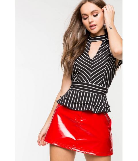 Imbracaminte Femei CheapChic Gigi Stripe Peplum BlackWhite Pattern