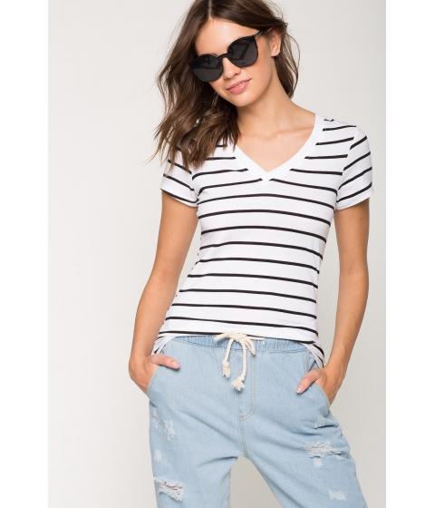 Imbracaminte Femei CheapChic Riley Stripe Basic Tee White Pattern