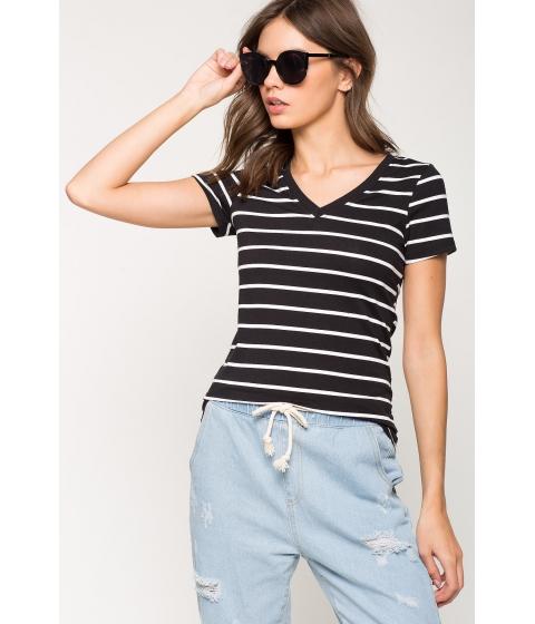 Imbracaminte Femei CheapChic Riley Stripe Basic Tee Black Pattern