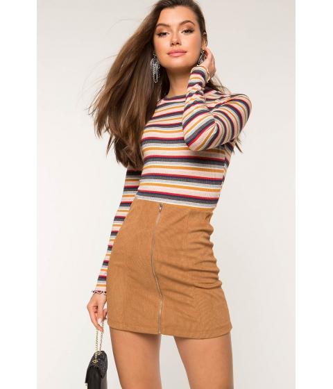 Imbracaminte Femei CheapChic Vanessa Zip Front Mini Skirt Camel