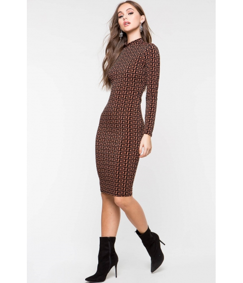 Imbracaminte Femei CheapChic Next Level Column Dress Brown Print