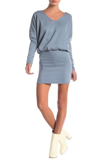 Imbracaminte Femei Go Couture Blouson V-Neck Long Sleeve Dress BLUE