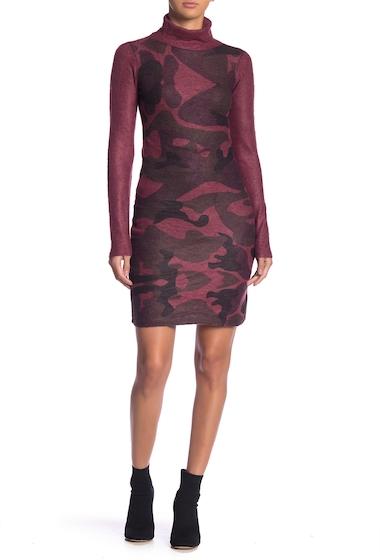 Imbracaminte Femei Go Couture Print Turtleneck Dress BURGUNDY CAMO