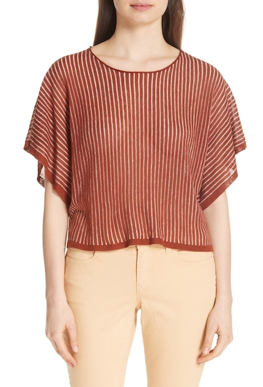 Imbracaminte Femei Eileen Fisher Stripe Organic Linen Blend Top DPPKO