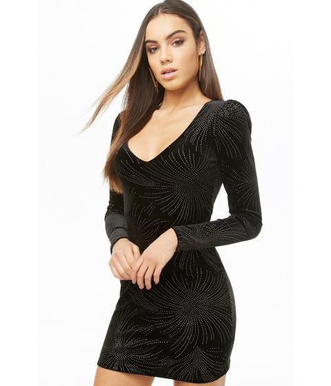 Imbracaminte Femei Forever21 Studded Velvet Mini Dress BLACKGOLD