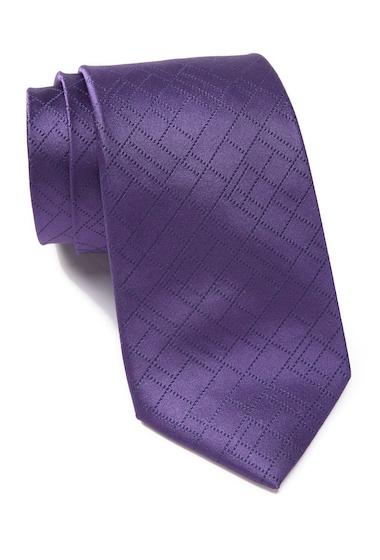Accesorii Barbati Calvin Klein Digital Grid Silk Tie PURPLE