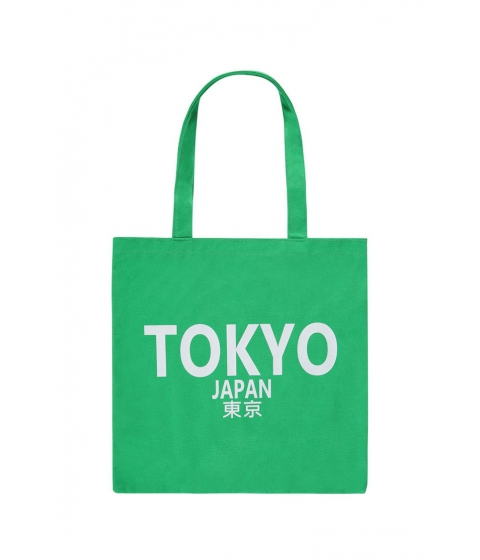 Genti Femei Forever21 Tokyo Japan Graphic Eco Tote Bag GREENWHITE