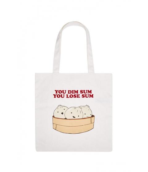 Genti Femei Forever21 Dim Sum Graphic Tote Bag WHITEMULTI