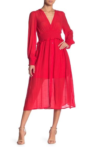Imbracaminte Femei Flying Tomato Smocked Waist Midi Dress RED