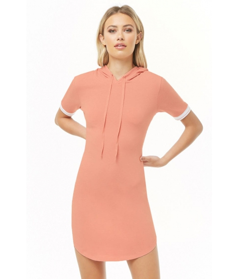 Imbracaminte Femei Forever21 Varsity-Striped Hooded Dress BLUSH