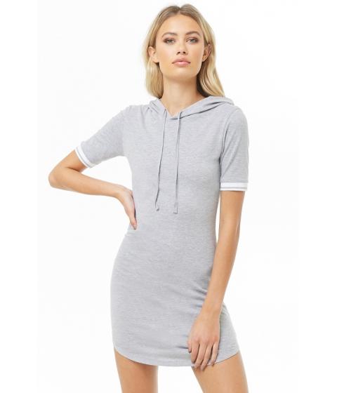 Imbracaminte Femei Forever21 Varsity-Striped Hooded Dress HEATHER GREY