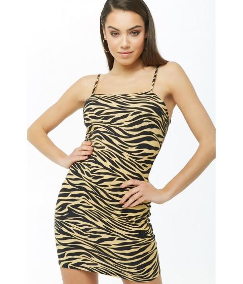 Imbracaminte Femei Forever21 Tiger Print Cami Dress TANBLACK