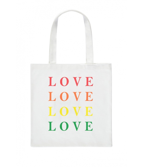 Genti Femei Forever21 Love Graphic Eco Tote Bag WHITEMULTI