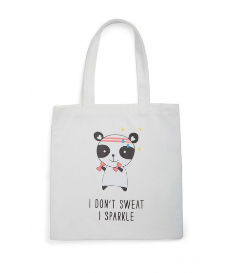 Genti Femei Forever21 I Dont Sweat Graphic Eco Tote Bag WHITEMULTI