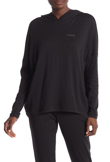 Imbracaminte Femei Calvin Klein Long Sleeve Hoodie 001 BLACK