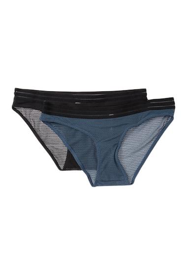 Imbracaminte Femei Vince Camuto Ariana Texture Mesh Bikini Panties - Pack of 2 BLACKBLUE PINE