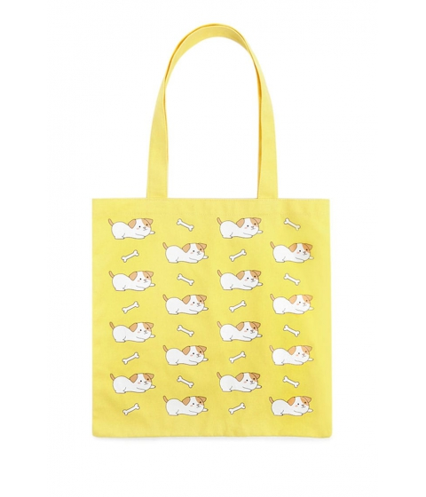 Genti Femei Forever21 Dog Print Tote Bag YELLOWMULTI