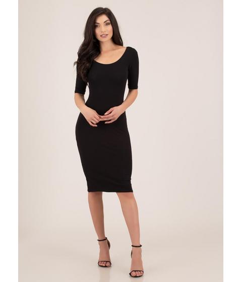 Imbracaminte Femei CheapChic Start With The Basics Midi Dress Black
