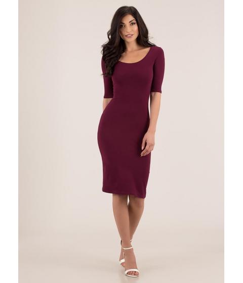 Imbracaminte Femei CheapChic Start With The Basics Midi Dress Wine