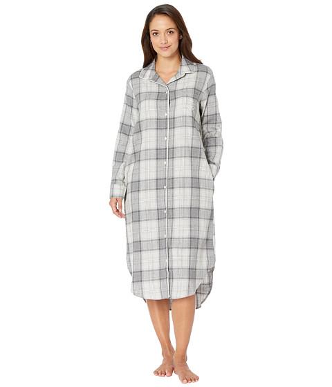 Imbracaminte Femei LAUREN Ralph Lauren Long Sleeve Ballet Length Sleepshirt Grey Plaid