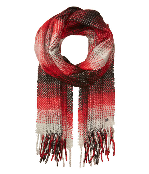 Accesorii Femei LAUREN Ralph Lauren Brushed Plaid Blanket Wrap BlackRed