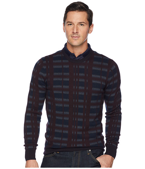 Imbracaminte Barbati Perry Ellis Multicolor Plaid Crew Neck Sweater Port