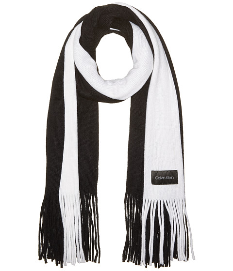 Accesorii Femei Calvin Klein Bold Stripe Scarf Black