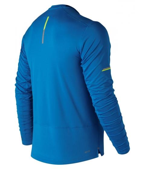Imbracaminte Barbati New Balance Men's 2018 NYC Marathon NB Ice 20 Finisher Long Sleeve Blue