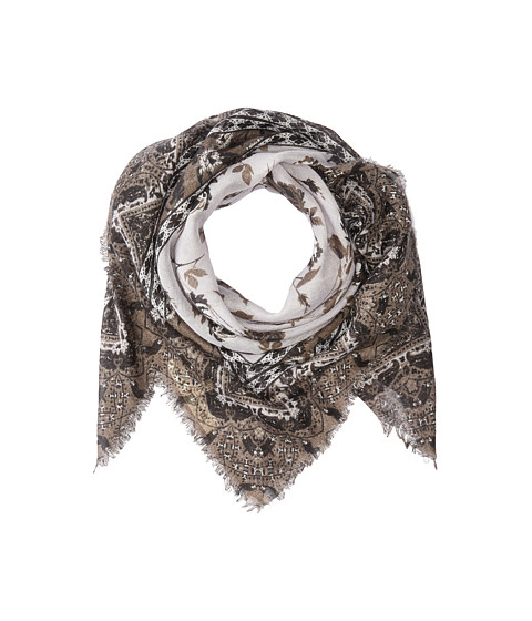 Accesorii Femei Michael Stars Falling For Florals Square Scarf Black