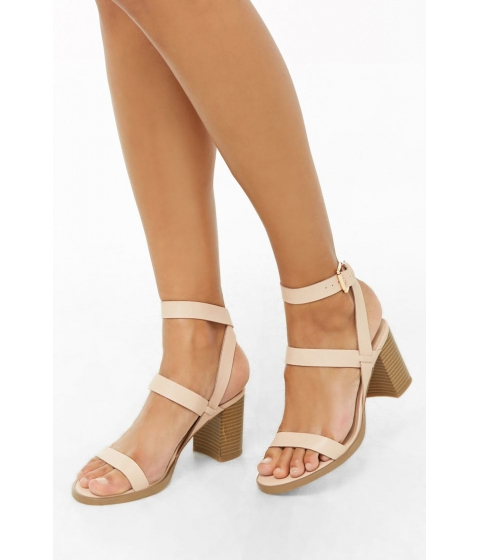 Incaltaminte Femei Forever21 Faux Leather Strappy Heels BLUSH