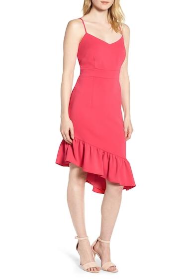 Imbracaminte Femei Chelsea28 Asymmetric Ruffle Hem Dress PINK BRIGHT