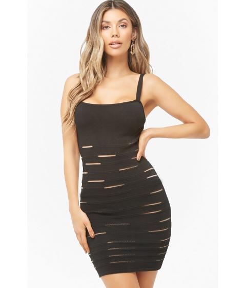 Imbracaminte Femei Forever21 Mesh Cutout Mini Bodycon Dress BLACK