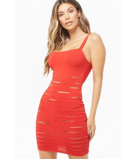 Imbracaminte Femei Forever21 Mesh Cutout Mini Bodycon Dress RED