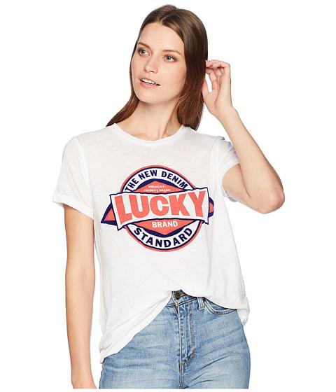 Imbracaminte Femei Lucky Brand Lucky Brand Logo Tee Lucky White