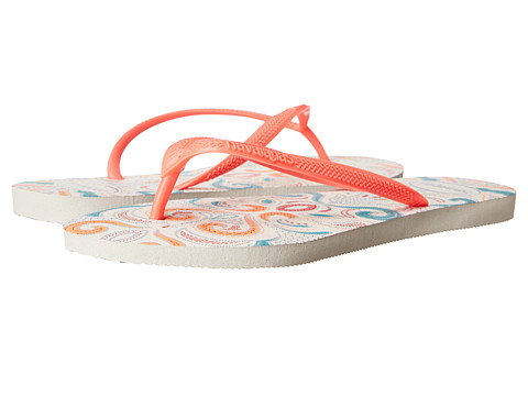 Incaltaminte Femei Havaianas Slim Lace Flip Flops WhiteCoral