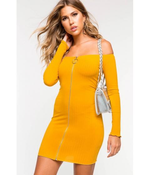 Imbracaminte Femei CheapChic Lizzy Off Shoulder Bodycon Dress Mustard