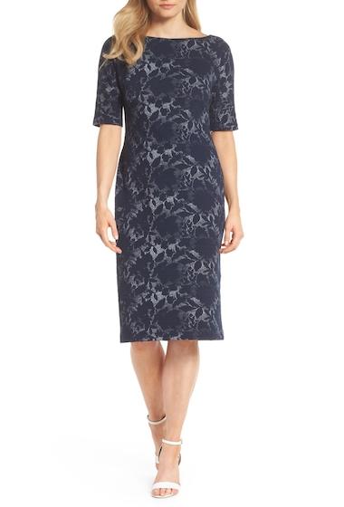 Imbracaminte Femei Maggy London Jacquard Pencil Dress Regular Petite NAVY