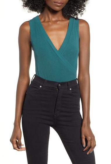 Imbracaminte Femei Leith Ribbed Bodysuit GREEN BUG