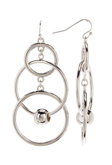 Bijuterii Femei Vince Camuto Multi Ring Ball Drop Earrings SILVER 01