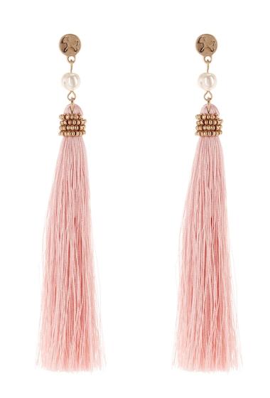 Bijuterii Femei Melrose and Market Bead Tassel Linear Earrings PINK- GOLD