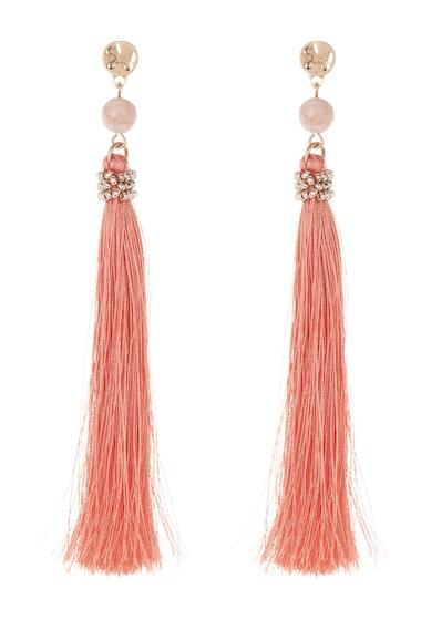 Bijuterii Femei Melrose and Market Bead Tassel Linear Earrings PEACH- GOLD
