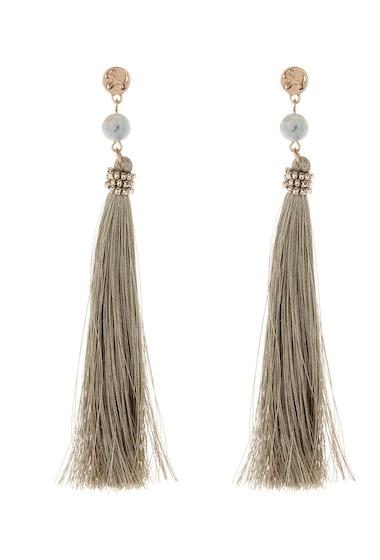 Bijuterii Femei Melrose and Market Bead Tassel Linear Earrings GREEN- GOLD