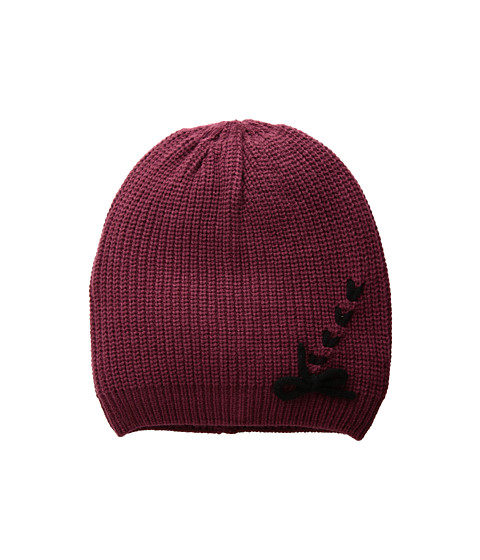 Accesorii Femei Vince Camuto Laced-Up Beanie RubyWine