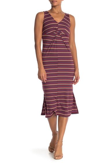 Imbracaminte Femei Velvet Torch Sleeveless Striped Rib Dress C28 RED ROYAL STP