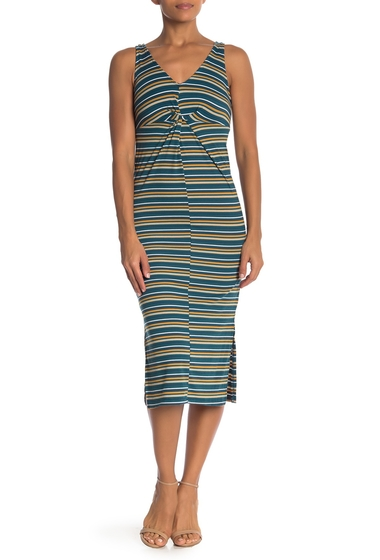 Imbracaminte Femei Velvet Torch Sleeveless Striped Rib Dress C35 NAVY JADE STP