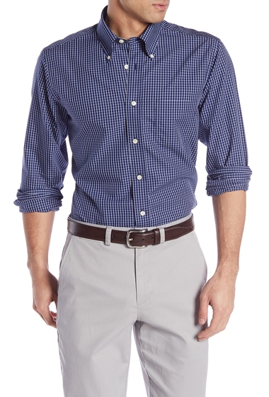 Imbracaminte Barbati Brooks Brothers Front Button Regent Fit Checkered Woven Shirt NAVY