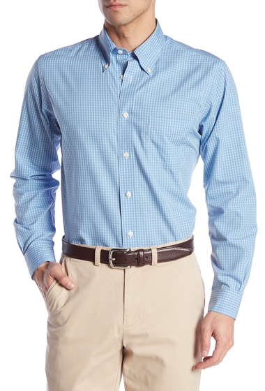 Imbracaminte Barbati Brooks Brothers Long Sleeve Regent Fit Checkered Woven Shirt LT BLUE
