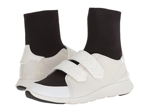 Incaltaminte Femei Tory Burch Chevron Strap Sock Sneaker Perfect BlackSnow White
