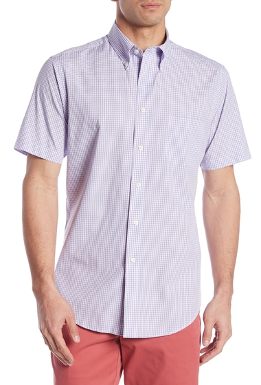 Imbracaminte Barbati Brooks Brothers Short Sleeve Regent Fit Gingham Print Woven Shirt VIOLET