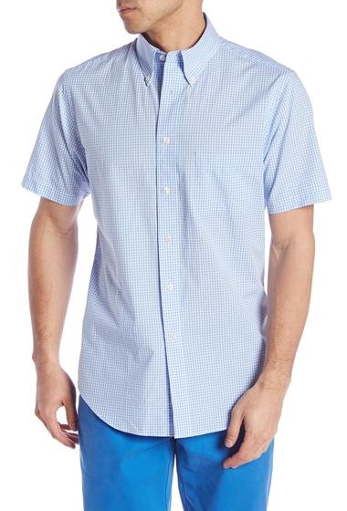 Imbracaminte Barbati Brooks Brothers Short Sleeve Regent Fit Gingham Print Woven Shirt LTBLUE